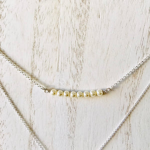 Layering necklaces - three necklace combo in sterling silver