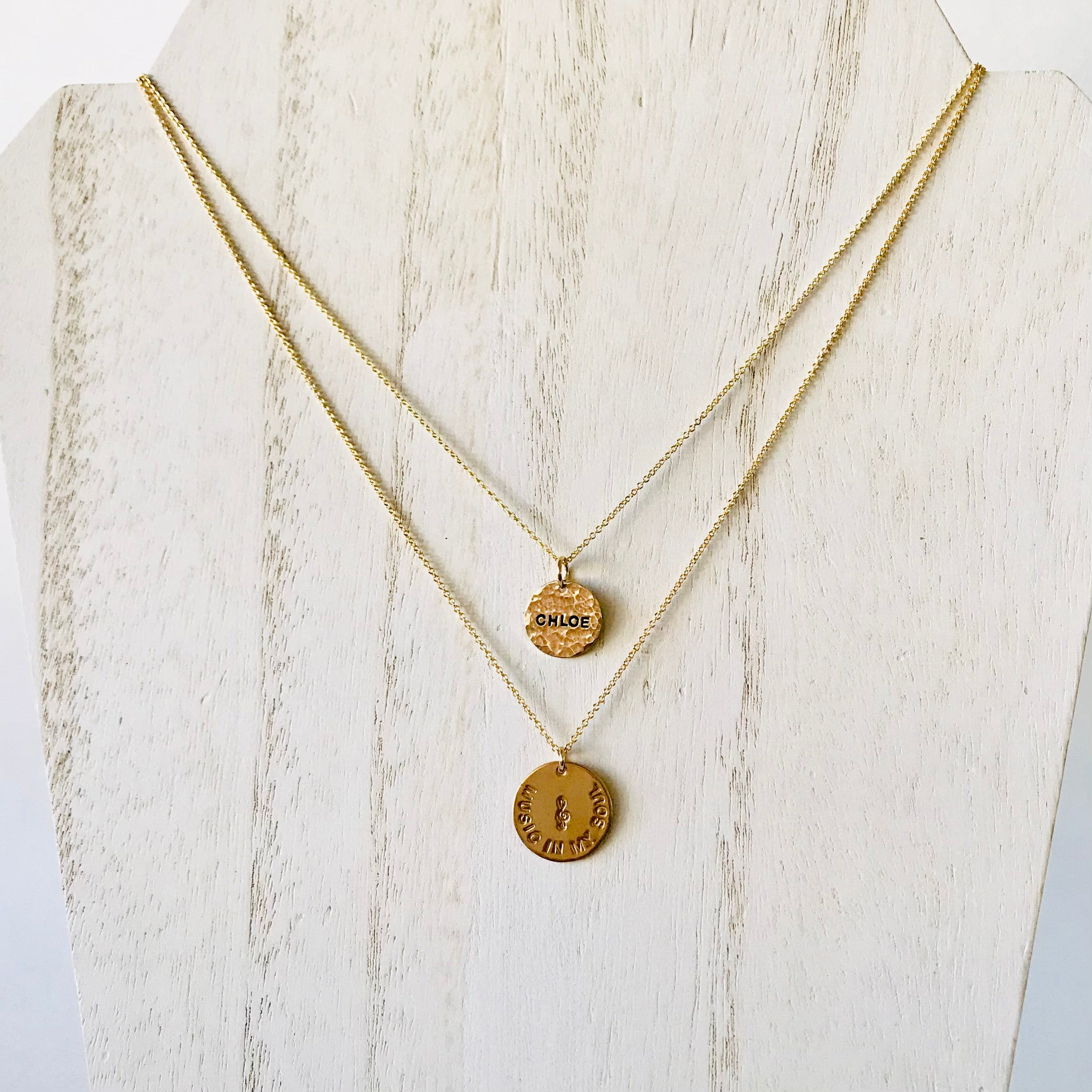 Layering necklaces - two necklace combo