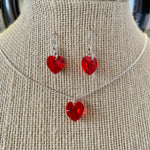 Load image into Gallery viewer, Sparkle heart set - necklace and earrings