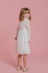 MINI Arabella Lace Dress in Classic White