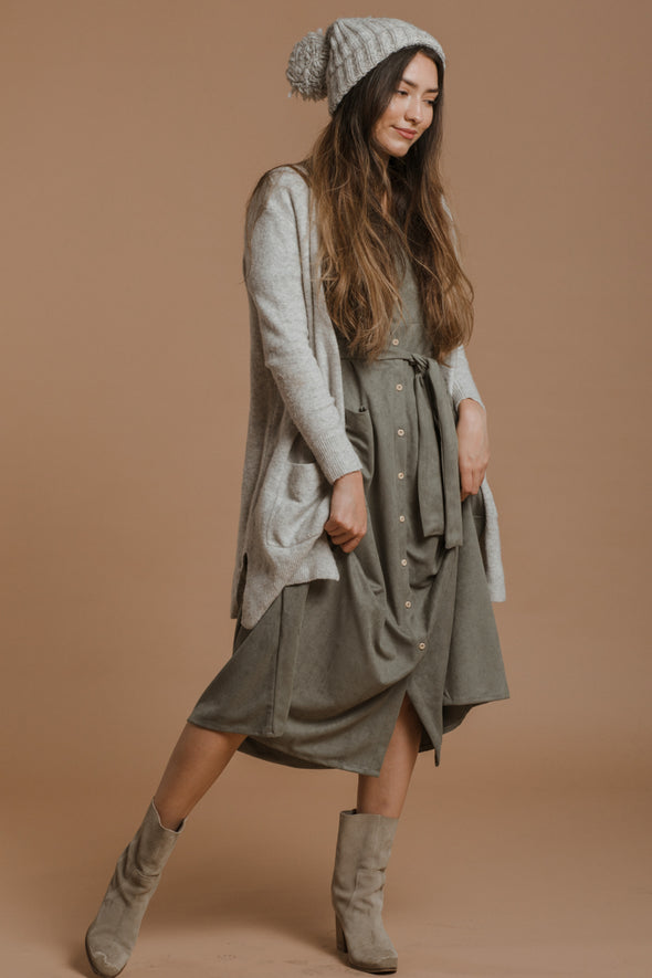 Olive You Suede Dress