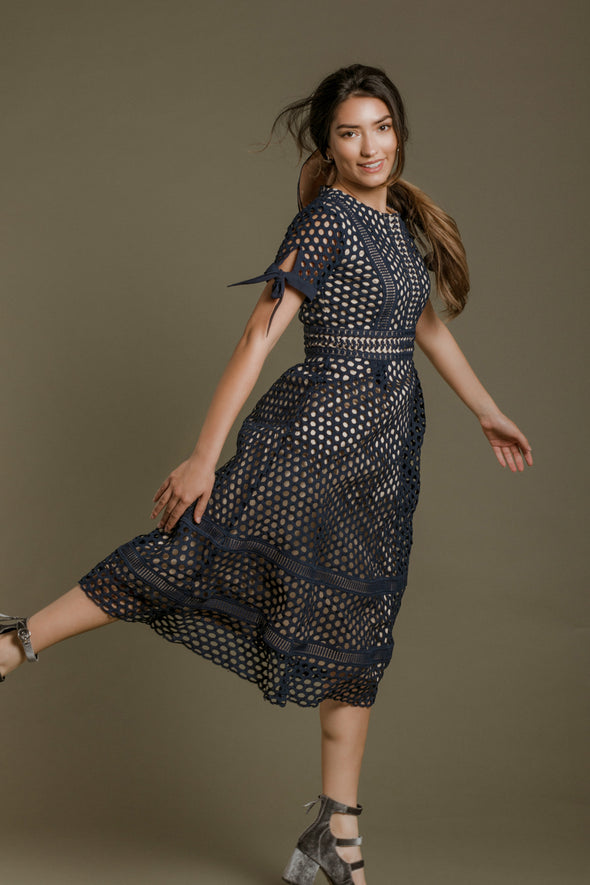 The Vera Dress in Navy