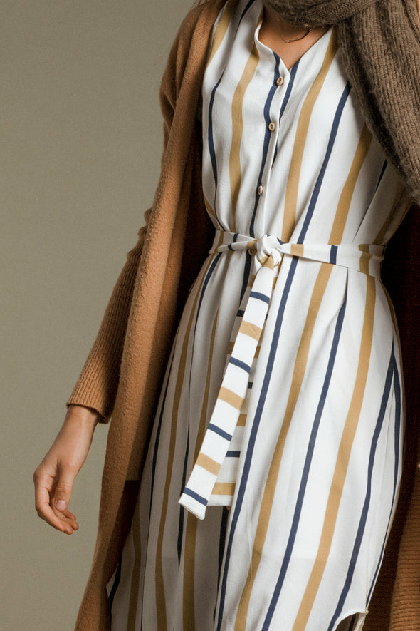 Kandy Stripe Midi Dress