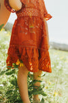Mini Monroe Lace Dress in Auburn