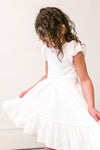 Mini Dahlia Dress In White