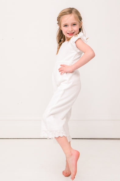 MINI DAHLIA JUMPSUIT IN WHITE