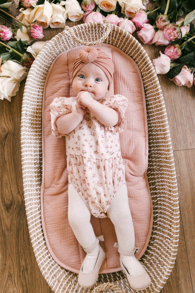 BABY MADELINE ONESIE IN PINK