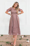 The Vera Dress in Mauve