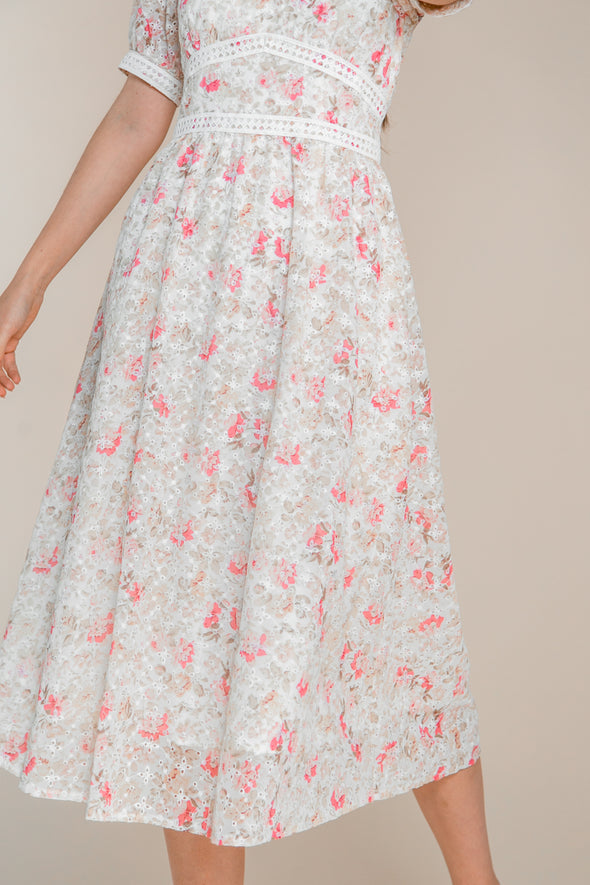 ESSIE EYELET FLORAL DRESS