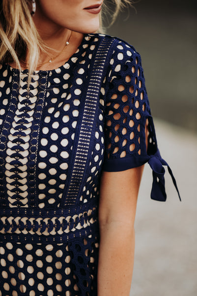 IVY CITY CO: The Vera Dress in Navy