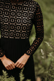 IVY CITY CO: Arabella Lace Dress in Black