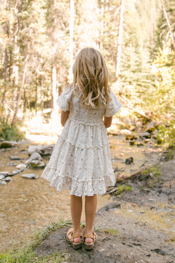 MINI ETTA EMBROIDERED LACE DRESS