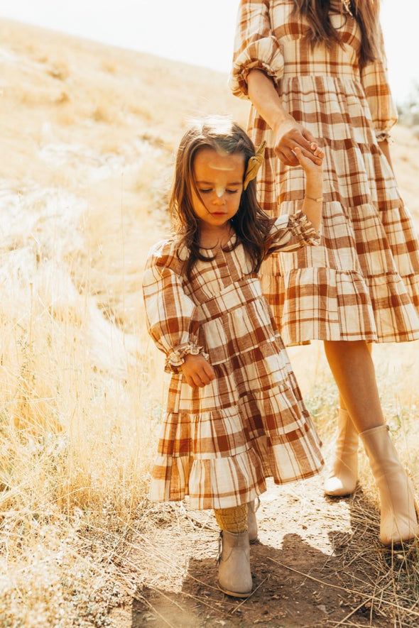 Mini Amber Plaid Dress