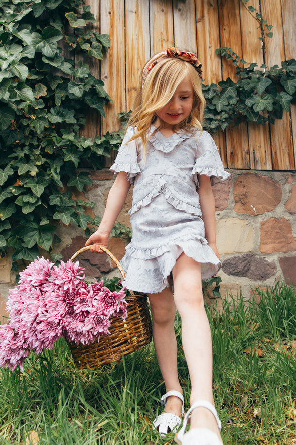 MINI IRIS RUFFLE DRESS