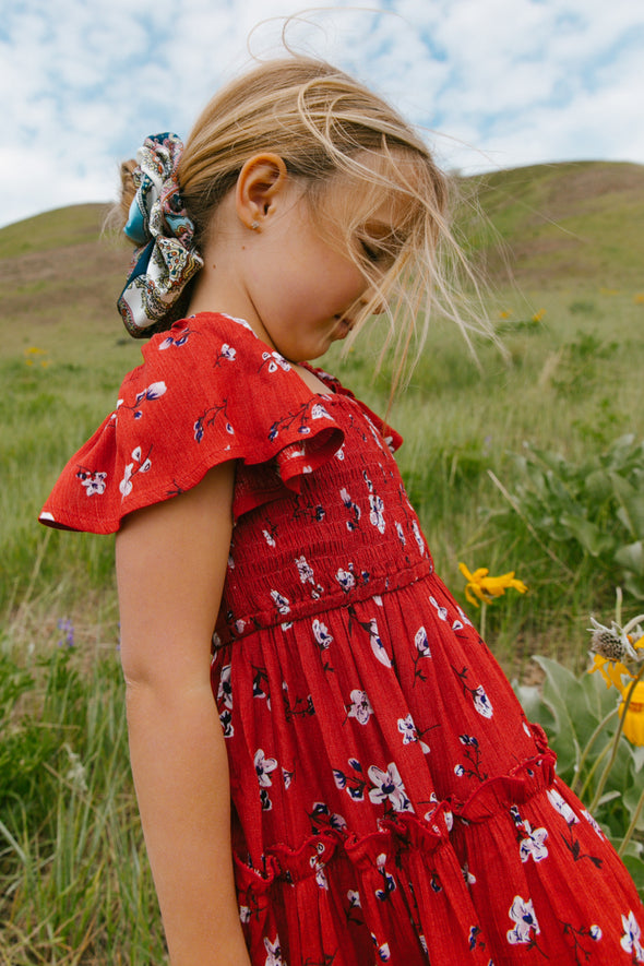 MINI INDIE FLORAL DRESS