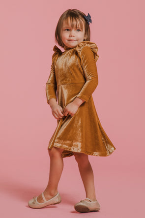 MINI La La Lady Dress in Gold
