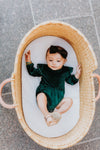 Baby La La Lady Dress in Emerald