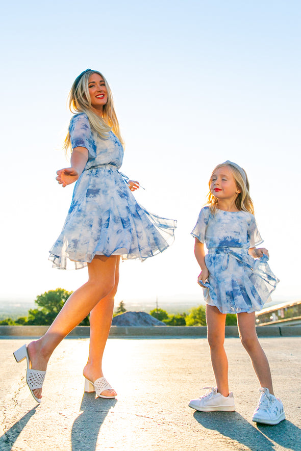 MINI IN THE CLOUDS DRESS