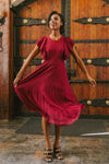 ALICE DRESS IN WINE