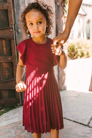 MINI ALICE DRESS IN WINE