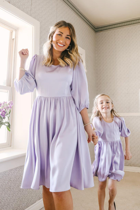 GENEVIEVE DRESS IN LAVENDER