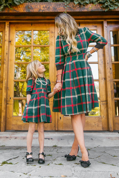 Mini Noel Plaid Dress