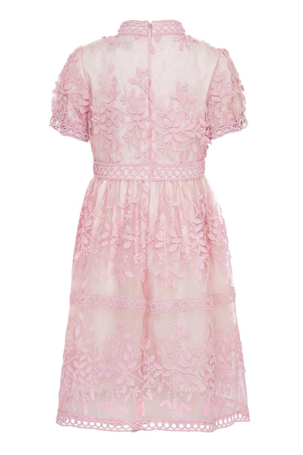 MINI SICILY DRESS IN PINK SHORT SLEEVE