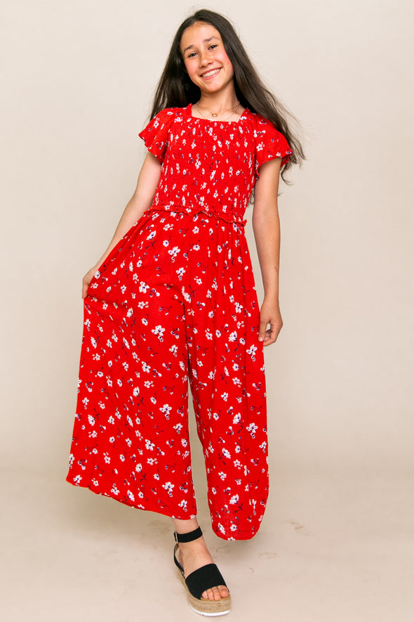 MINI INDIE FLORAL JUMPSUIT