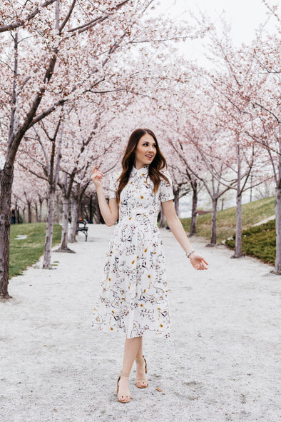 Anna Dress in Spring Floral