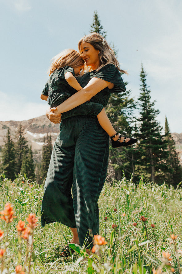 Mini Evergreen Velvet Jumpsuit