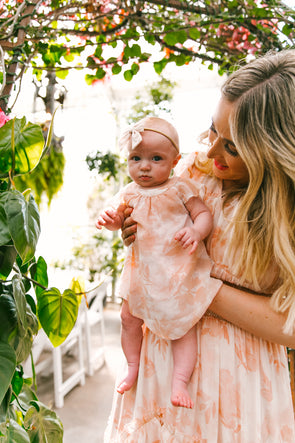 BABY GEORGIA PEACH DRESS