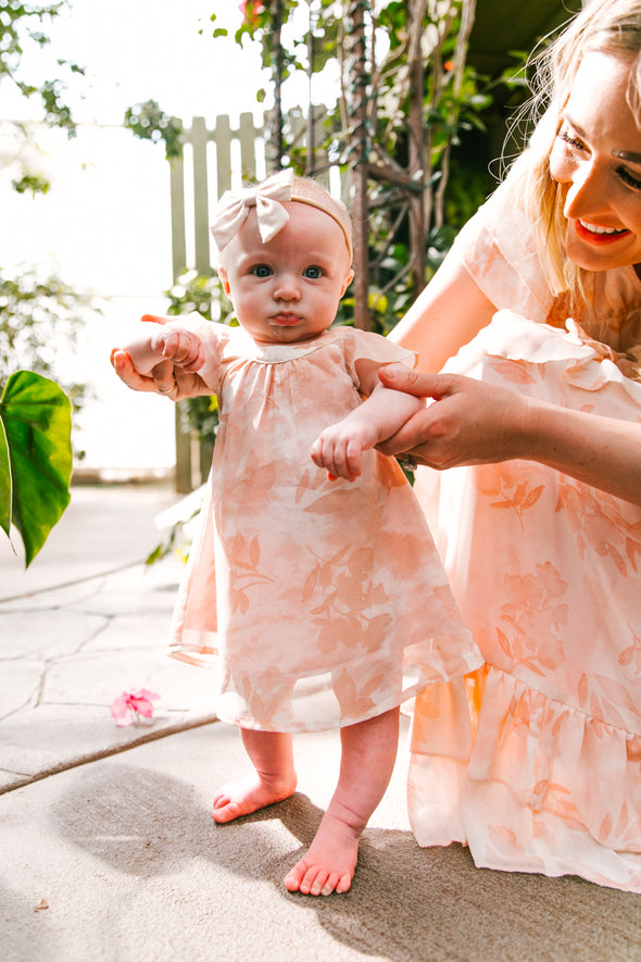 BABY GEORGIA PEACH DRESS SET