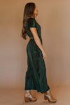 Evergreen Velvet Jumpsuit