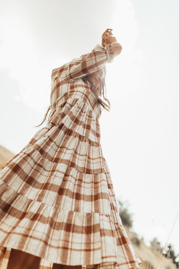 Amber Plaid Dress