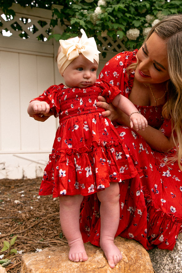 BABY INDIE FLORAL DRESS SET