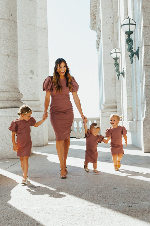 The Kaley Munday Dress in Plum