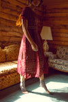 The Vera Dress in Burgundy