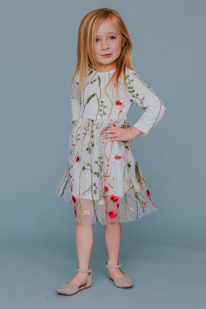 Mini Garden Party Dress - SLIGHTLY IMPERFECT
