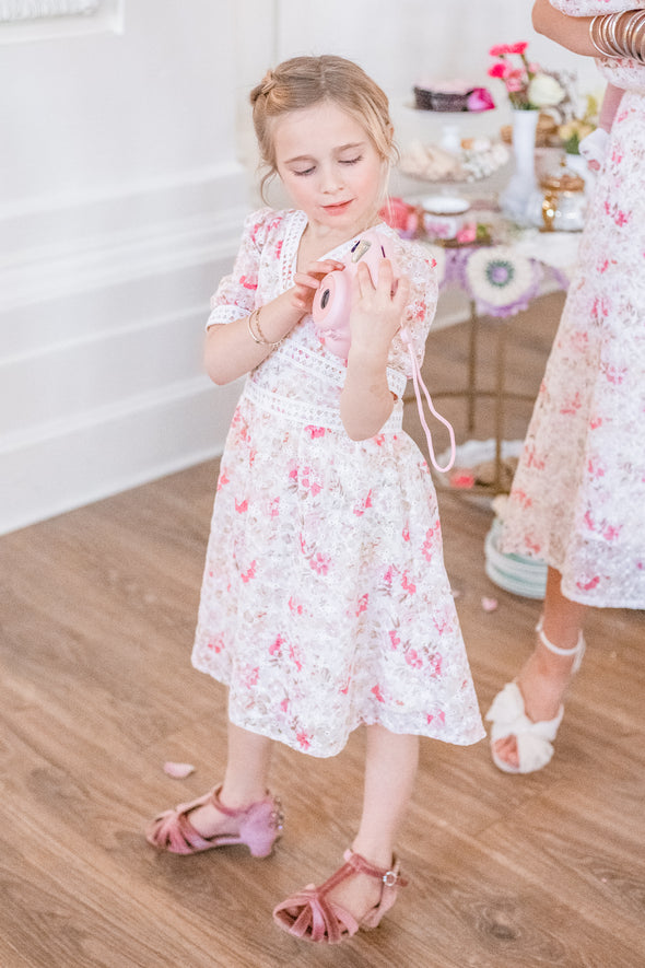 MINI ESSIE EYELET FLORAL DRESS