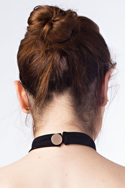 THE MYSTYLEMODE BLACK CHOKER NECKLACE