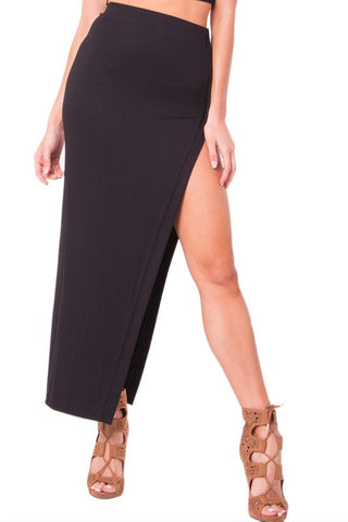 THE MYSTYLEMODE MAUVE ESSENTIAL VENEZIA DOUBLE LINED MIDI SKIRT