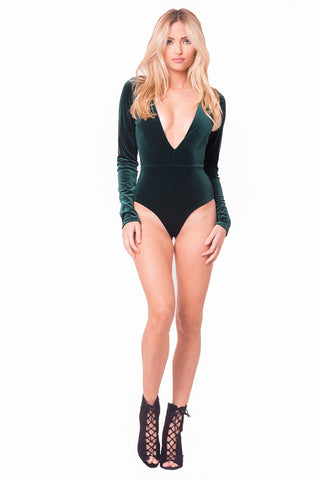 THE MYSTYLEMODE BLACK SPAGHETTI STRAP BODYSUIT