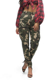 THE MYSTYLEMODE CAMO HIGH WAISTED CARGO PANTS