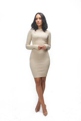 THE MYSTYLEMODE POWDER BLUE CRISS CROSS TIE DOUBLE LINED BODYCON DRESS