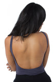 THE MYSTYLEMODE CHARCOAL TANK LOW BACK ESSENTIAL BODYSUIT