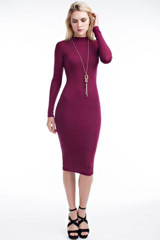 THE MYSTYLEMODE MAUVE ESSENTIAL DOUBLE LINED TANK MIDI DRESS