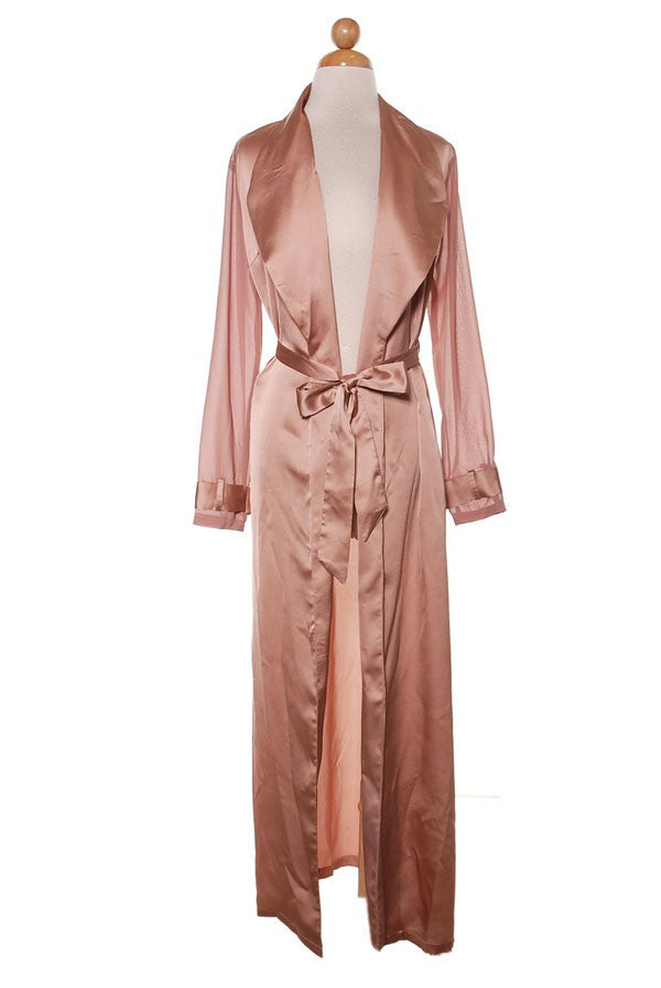 THE MYSTYLEMODE ROSE GOLD ESSENTIAL SATIN TRENCH