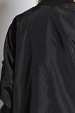 THE MYSTYLEMODE BLACK OVERSIZED BOMBER JACKET