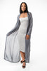 THE MYSTYLEMODE LIGHT GRAY LIGHTWEIGHT CHIFFON TRENCH