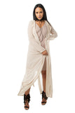 THE MYSTYLEMODE NUDE LIGHTWEIGHT CHIFFON TRENCH